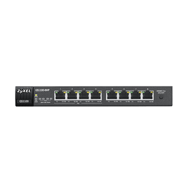 ZyXEL GS1100-8HP 8-Port Unmanaged Gigabit Switch with 4port POE 75W