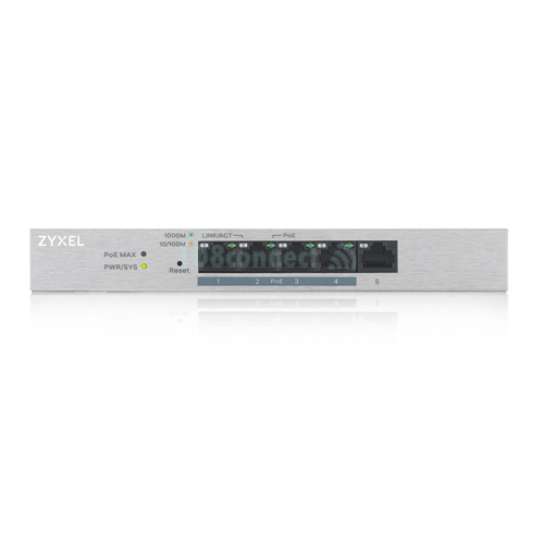 ZyXEL GS1200-5HP v2 5-Port Web Managed PoE+ Gigabit Switch