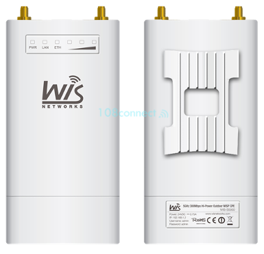 Wisnetworks S5300 5GHz 300Mbps High-Powered, Long-Range Wireless-N Outdoor Access Point