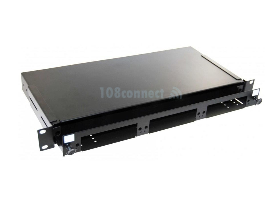 COMMOCOPE 1348876-4 PATCH PANEL FIBER ENCLOSURE RM 1U,3CASS/ADPT PLATE