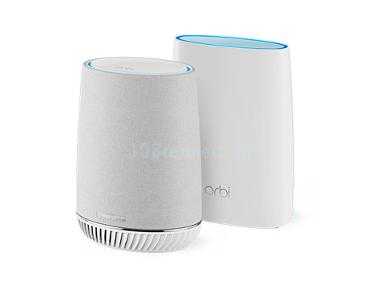 NETGEAR RBK50V Orbi Mesh WiFi System with Orbi Voice Smart Speaker