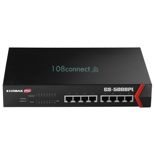 EDIMAX GS-5008PL 8-Port Gigabit PoE+ Web Smart Switch