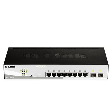 D-LINK DGS-1210-10 8-port UTP 10/100/1000Mbps, 2-port Gigabit SFP Smart Switch