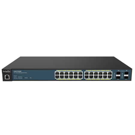EnGenius EWS7928P Neutron 24-Port Layer 2 Managed Gigabit PoE+ Switch w/ 4x SFP Ports (185W)