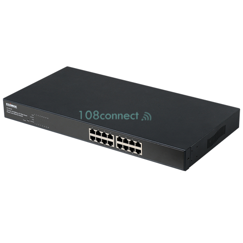 EDIMAX ES-5816P 16 Ports 10/100Mbps Rack-mount PoE Web Smart Fast Ethernet Switch