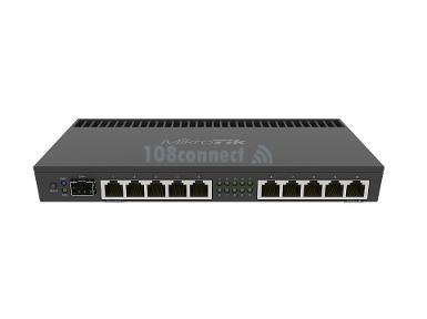 Mikrotik RB4011UiAS-RM Powerful 10xGigabit port router with a Quad-core 1.4Ghz CPU, 1GB RAM