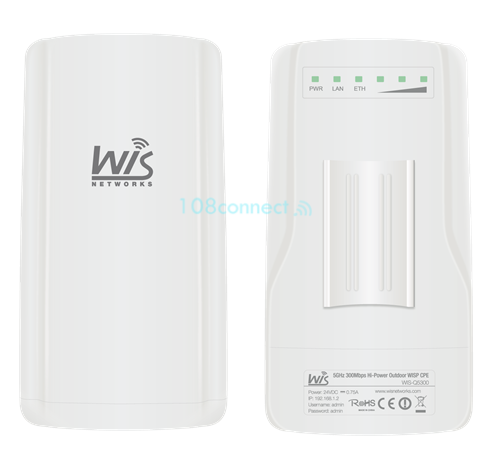 Wisnetworks Q2300 300Mbps High-Powered, Long-Range Wireless-N Outdoor Access Point