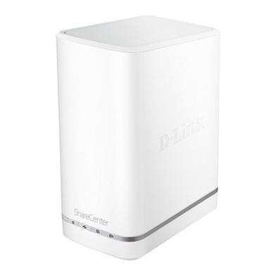 D-Link DNS-327L 2-Bay 2-in-1 mydlink Cloud Gigabit NAS & NVR,Support 4-channel Recording for mydlink