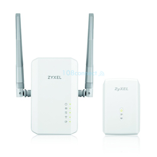ZYXEL PLA5236 1000Mbps Powerline with AC900Mbps WiFi and PLA5206 1000Mpbs Powerline Gigabit Ethernet