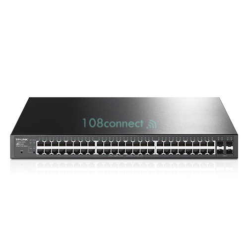 TP-LINK T1600G-52PS 48-Port Gigabit PoE+ Smart Switch, 48 Gigabit RJ45 ports including 4 SFP ports,